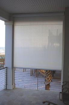 Exterior Shades With Zip Tracks